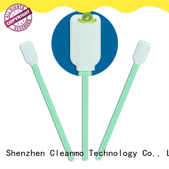 Cleanmo affordable microfiber cleaning swabs excellent chemical resistance for general purpose cleaning