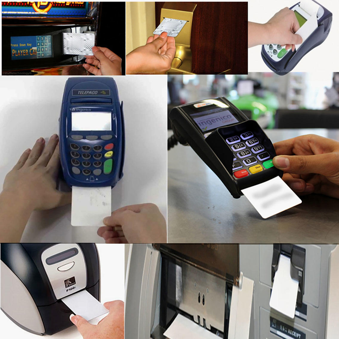 Cleanmo spunlace card reader cleaning card supplier for POS Terminal-3