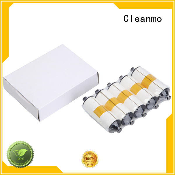 Cleanmo safe zebra printer cleaning factory for ID card printers