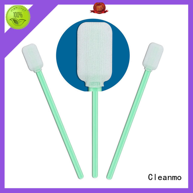 good quality polyester cleaning swabs polypropylene handle supplier for optical sensors