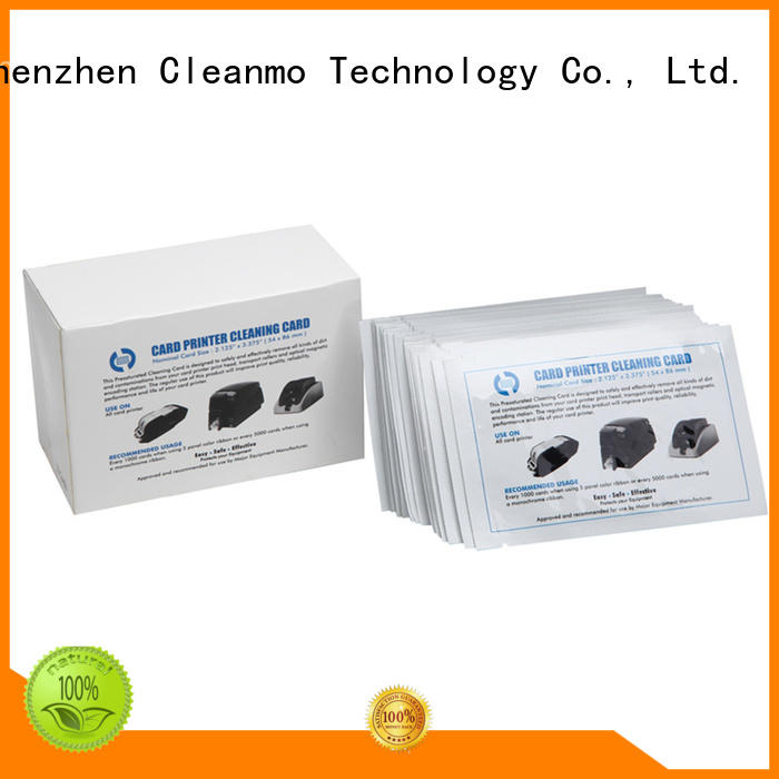 Cleanmo blending spunlace zebra printer cleaning wholesale for ID card printers