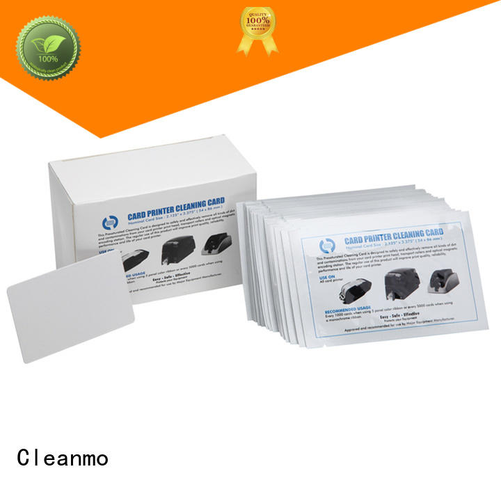 Cleanmo laminate credit card cleaner wholesale for ID Card Printers