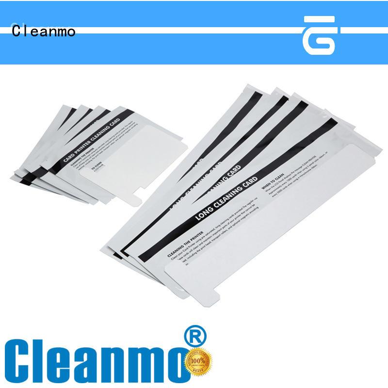 Cleanmo non woven zebra printer cleaning wholesale for Zebra P120i printer