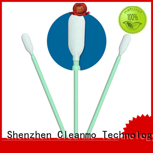 Cleanmo double-layer knitted polyester polyester swab supplier for microscopes