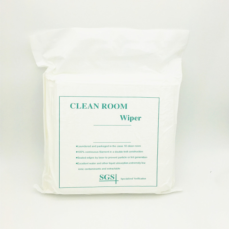 Cleanmo high quality 100% polyester cleanroom wipes supplier for medical device products-4