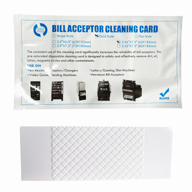 Bill Validator Grid Style Series Flocked Cleaning Card