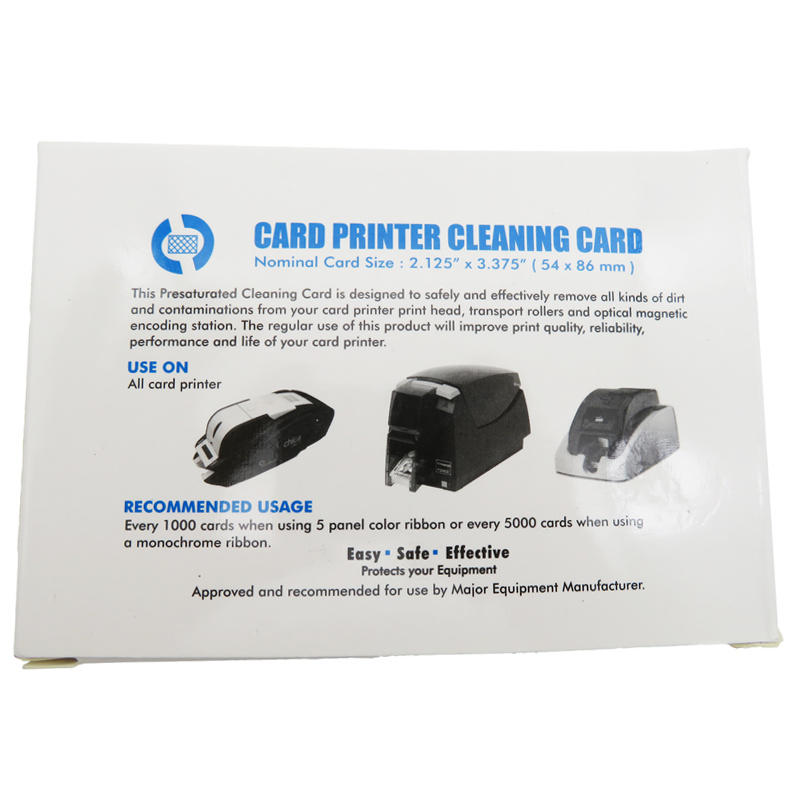 Cleanmo spunlace card reader cleaning card supplier for POS Terminal
