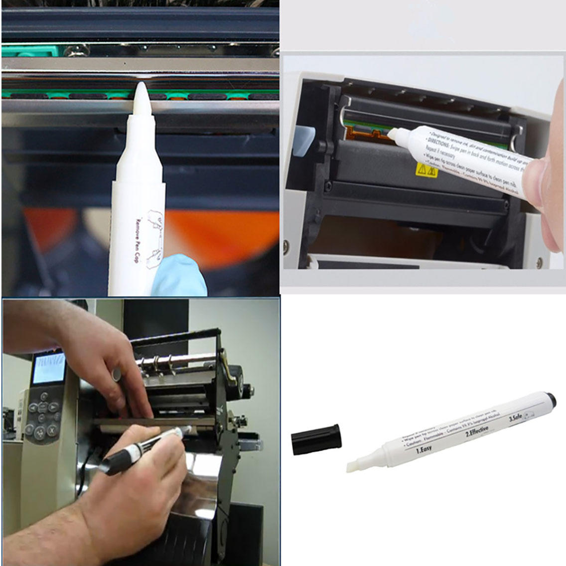 Cleanmo white thermal cleaning pen manufacturer for Check Scanner Roller