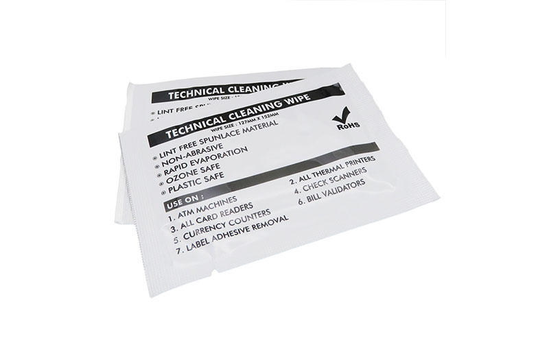 Cleanmo professional thermal printhead cleaning wipes supplier for ID Card Printers