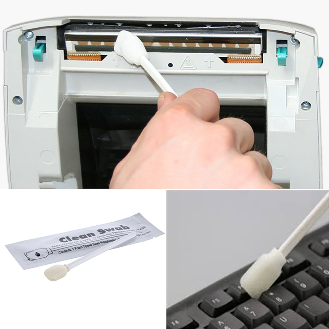 Cleanmo Aluminum Foil printhead cleaning swabs supplier for computer keyboards-8