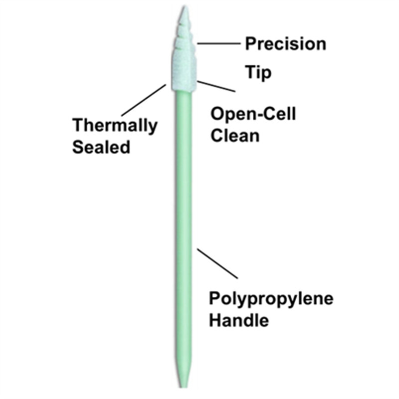 Cleanmo green handle dental swabs manufacturer for Micro-mechanical cleaning-3