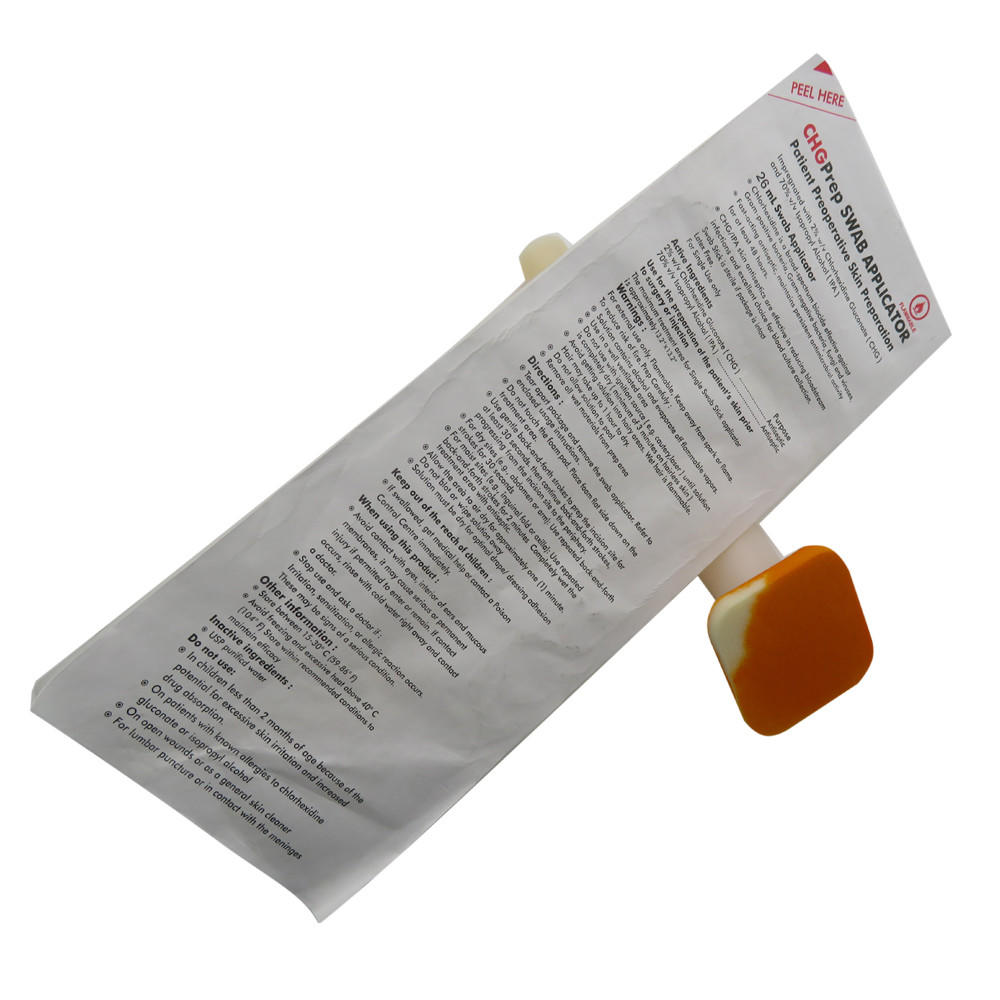 long plastic handle with 2% chlorhexidine gluconate 2%CHG/70% IPA applicators supplier for biopsies Cleanmo
