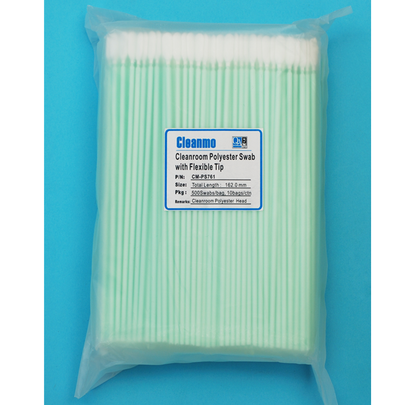 Cleanmo flexible paddle polyester cleaning swabs factory for general purpose cleaning