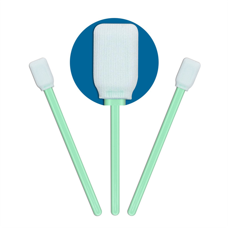 Cleanmo polypropylene handle polyester cleanroom swabs supplier for printers-1