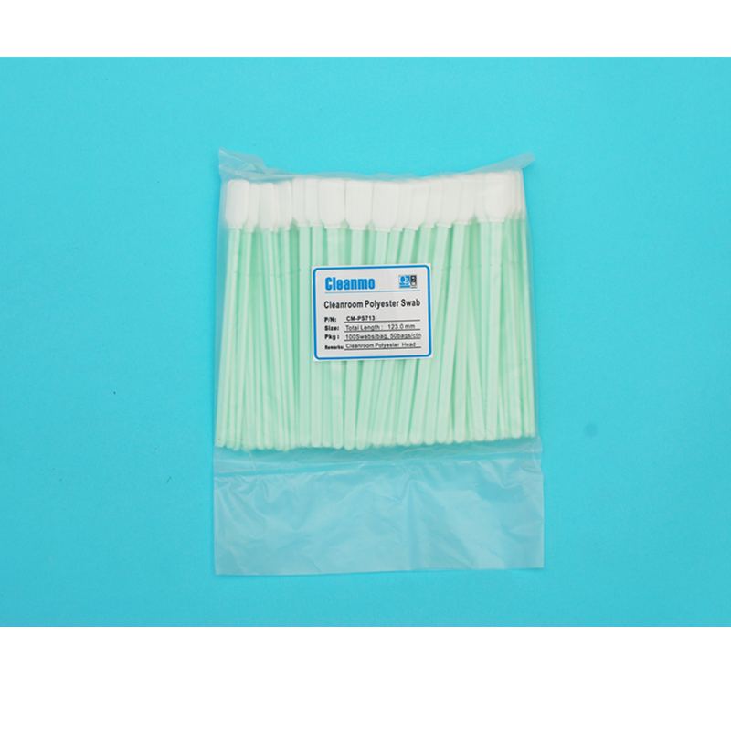 Cleanmo double-layer knitted polyester cleanroom polyester swabs factory for printers-5