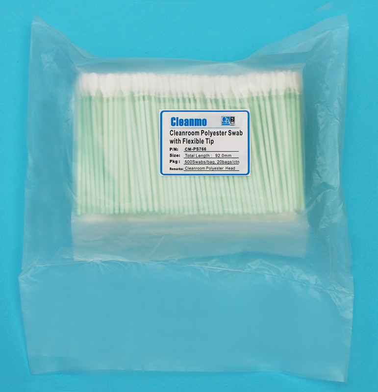 high quality polyester cleaning swabs flexible paddle supplier for microscopes-5