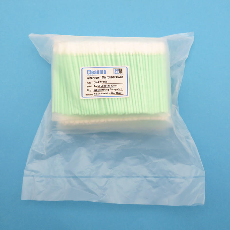 optic cleaning swabs cmps714m Cleanmo Brand Disposable Microfiber Swabs