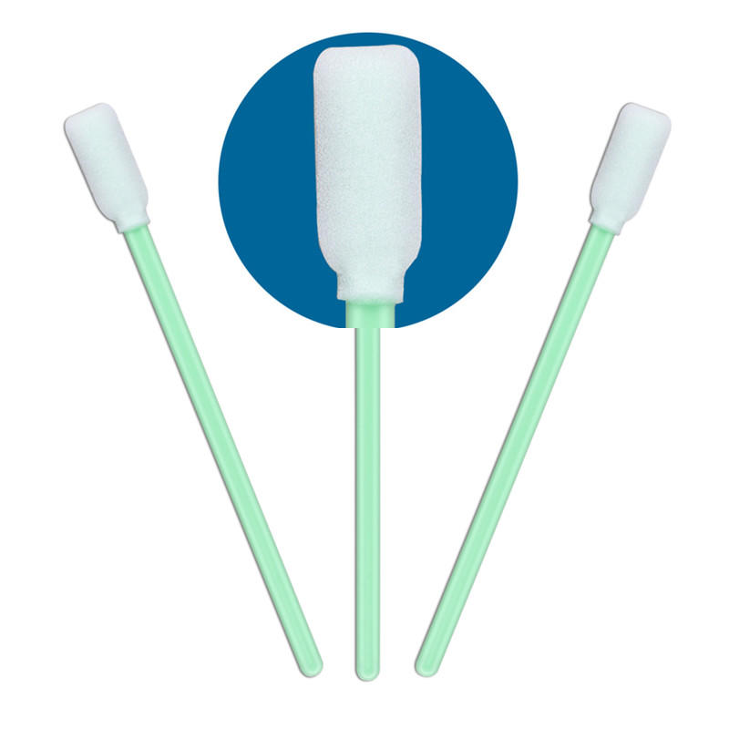 Cleanmo cost-effective lint free foam swabs ESD-safe Polypropylene handle for excess materials cleaning