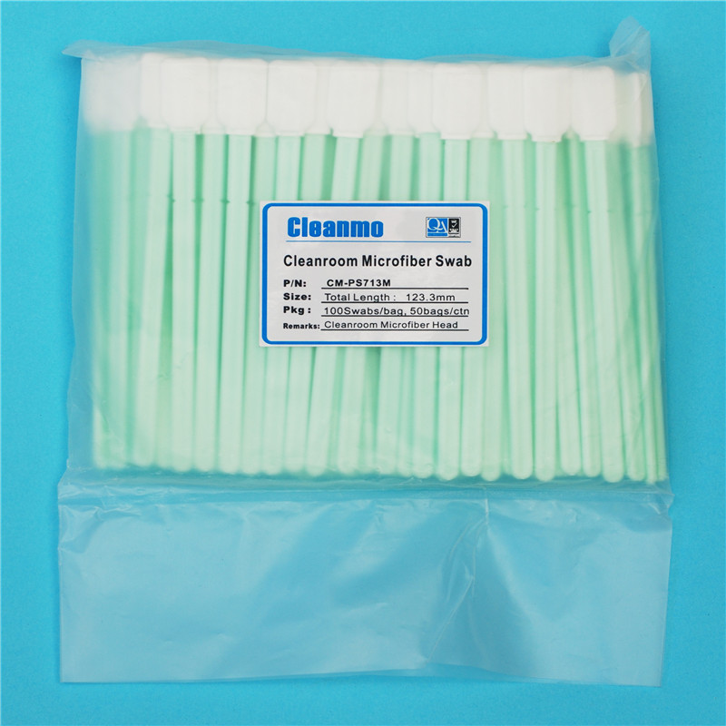 Cleanmo high quality Disposable Microfiber Swabs manufacturer for Micro-mechanical cleaning-5