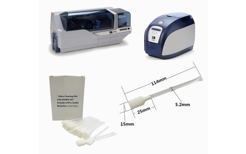 disposable zebra cleaners T shape supplier for ID card printers