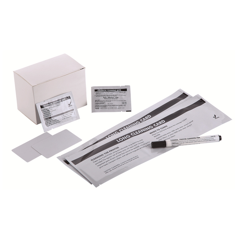 Cleanmo Aluminum Foil laser printer cleaning kit wholesale for Evolis printer-4