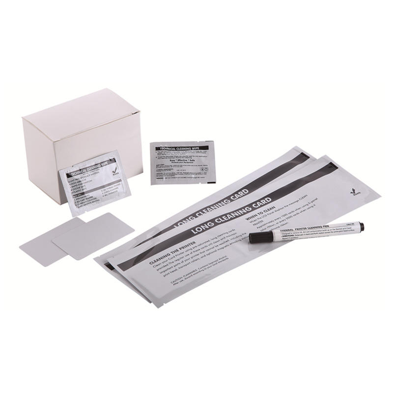 Cleanmo Aluminum Foil laser printer cleaning kit wholesale for Evolis printer