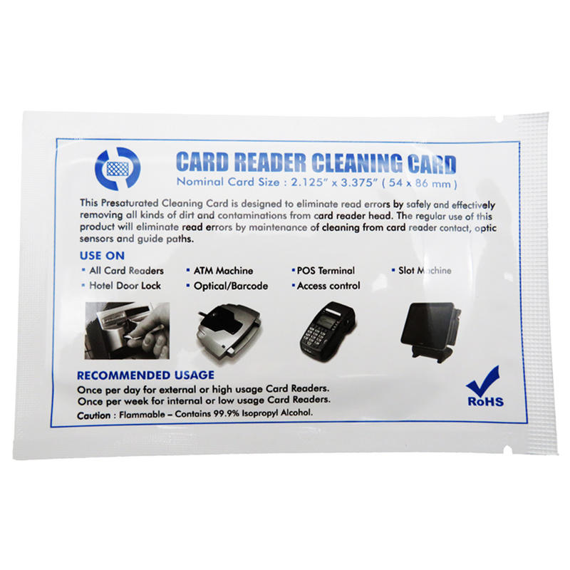 Cleanmo quick laser printer cleaning kit factory price for ID card printers