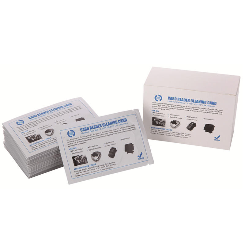 Cleanmo Hot-press compound laser printer cleaning kit supplier for Evolis printer