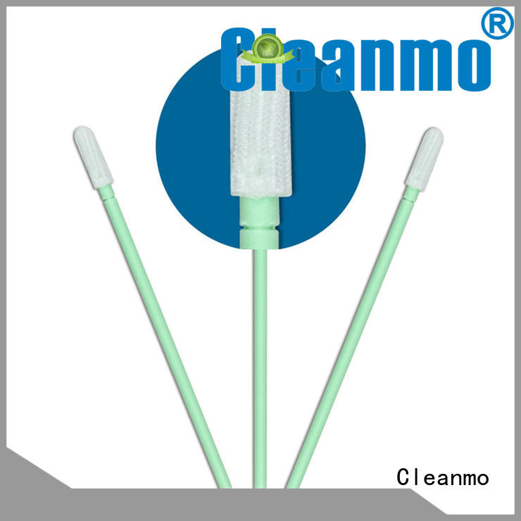 Cleanmo polypropylene handle clean room cotton swabs wholesale for optical sensors
