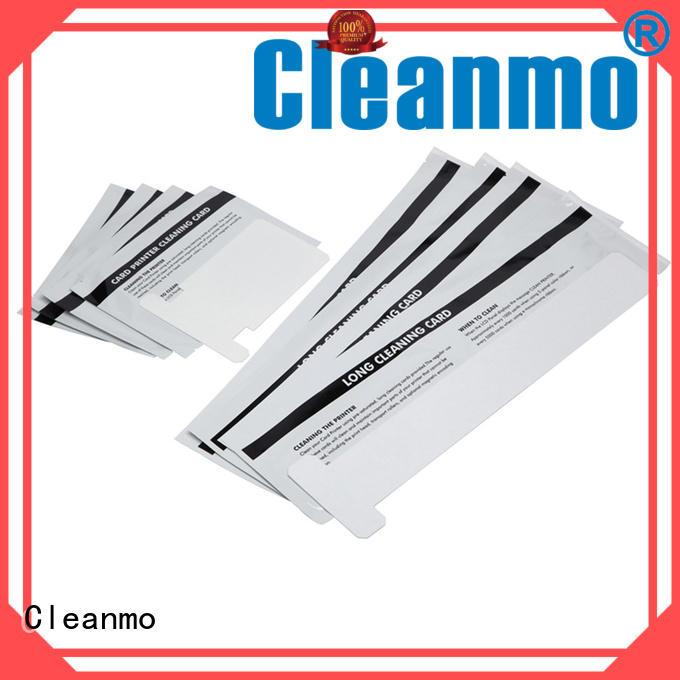 Cleanmo pvc zebra printhead cleaning factory for Zebra P120i printer