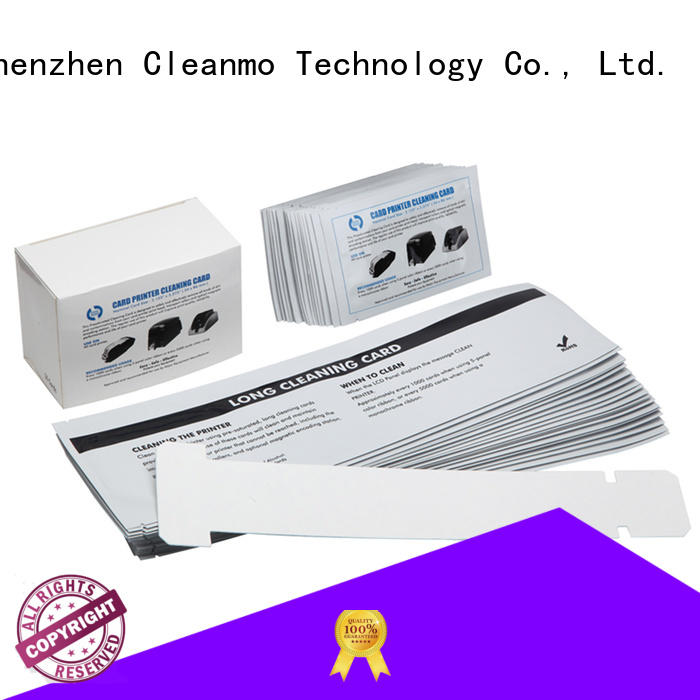 Cleanmo T shape zebra printer cleaning supplier for Zebra P120i printer