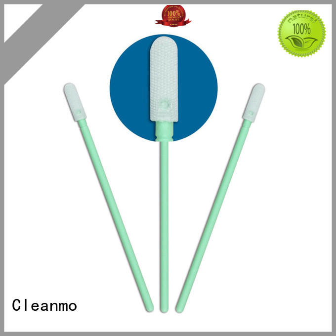 Cleanmo double layers of microfiber fabric Microfiber Industrial Swab Sticks supplier for general purpose cleaning