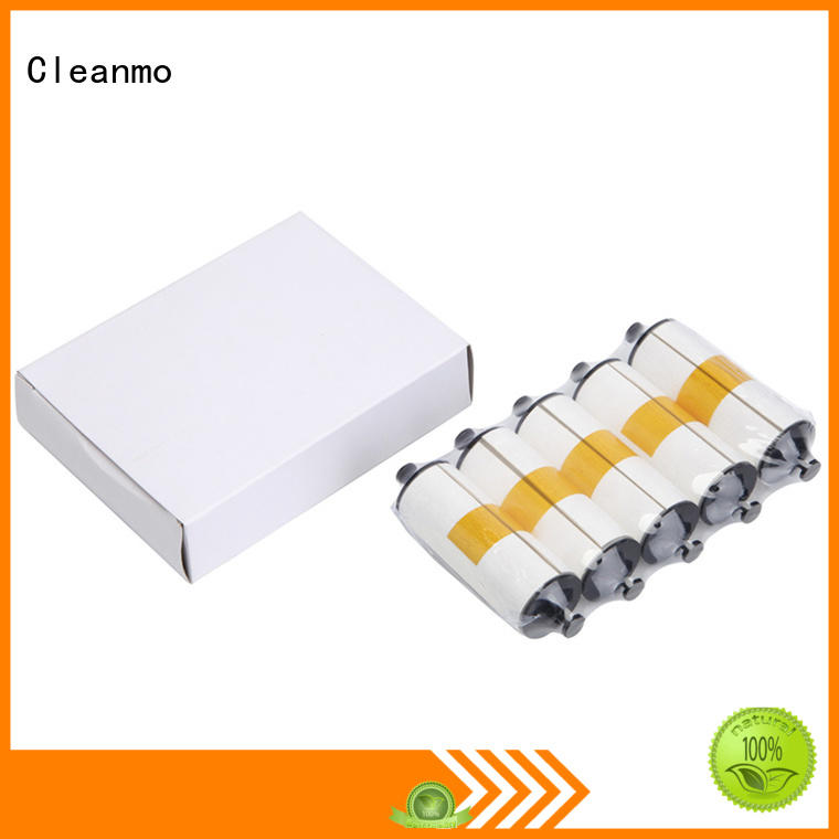 Cleanmo non woven zebra printer cleaning manufacturer for ID card printers