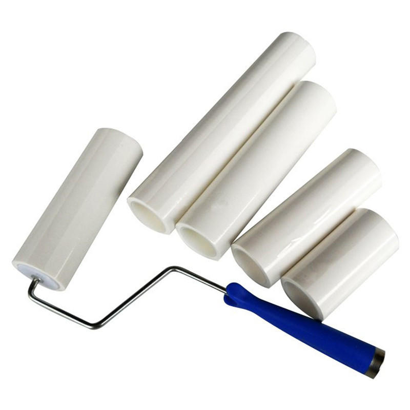 Cleanmo coated adhesive floor lint roller manufacturer for semiconductor-1