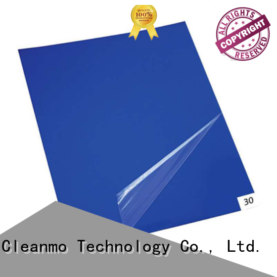 Cleanmo polystyrene film sheets sticky mat wholesale for cleanroom entrances