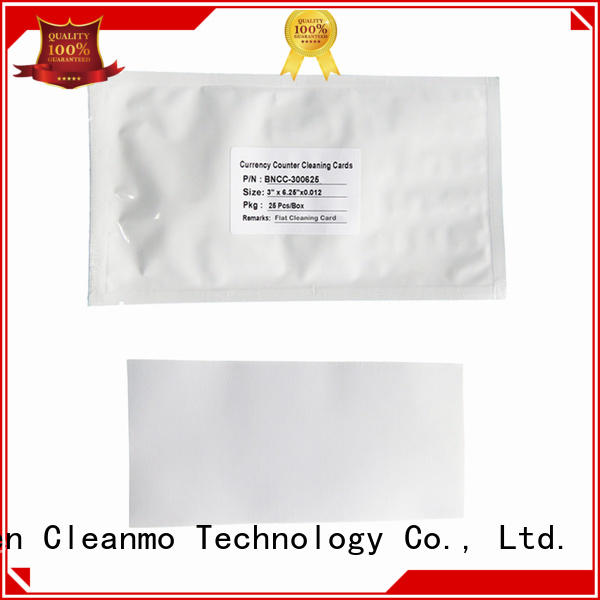 Cleanmo convenient currency counter cleaning card Spring Loaded Features for Counting Equipment