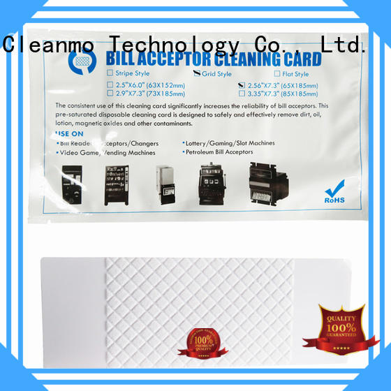 safe alcohol cleaning cards pvc wholesale for readers