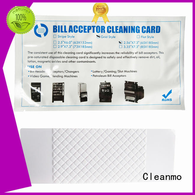 Cleanmo white alcohol cleaning cards factory for readers