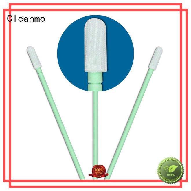Cleanmo safe material polyester cleanroom swabs manufacturer for optical sensors