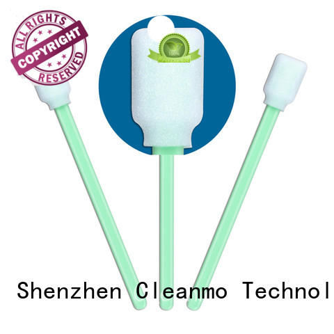 Cleanmo green handle swab material factory price for excess materials cleaning