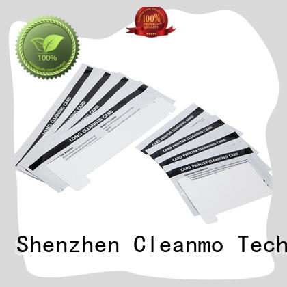 Cleanmo non woven zebra printer cleaning factory for cleaning dirt