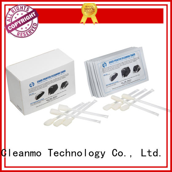 Cleanmo cost effective zebra printer cleaning wholesale for ID card printers