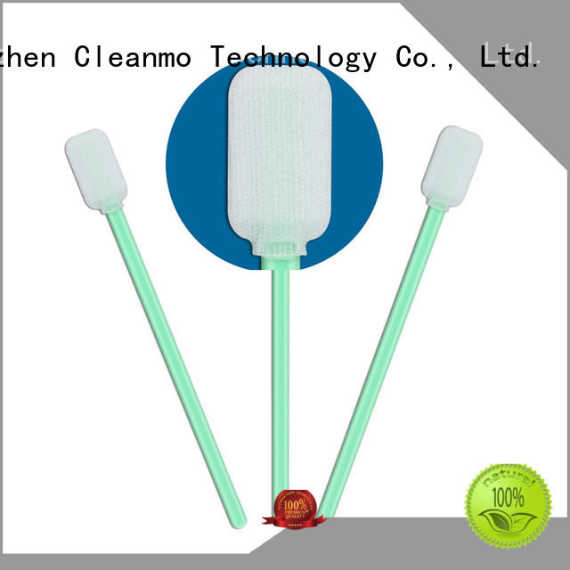 Cleanmo flexible paddle dacron polyester swabs supplier for microscopes