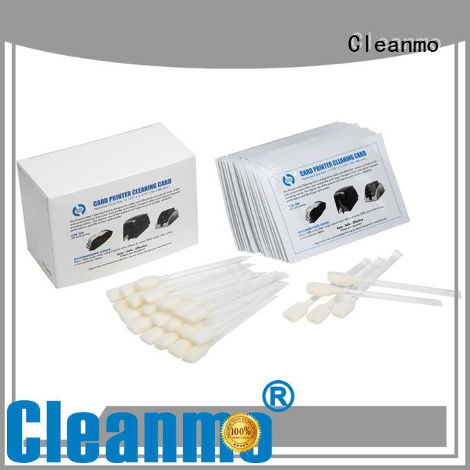 Cleanmo blending spunlace zebra cleaning kit wholesale for Zebra P120i printer
