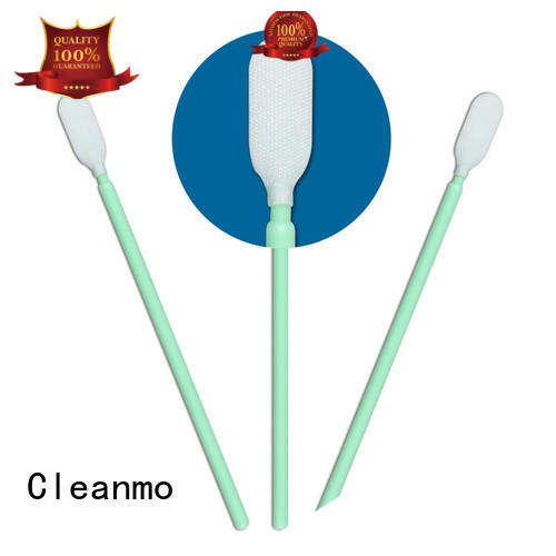 Cleanmo double layers of microfiber fabric Microfiber Industrial Swab Sticks factory price for general purpose cleaning