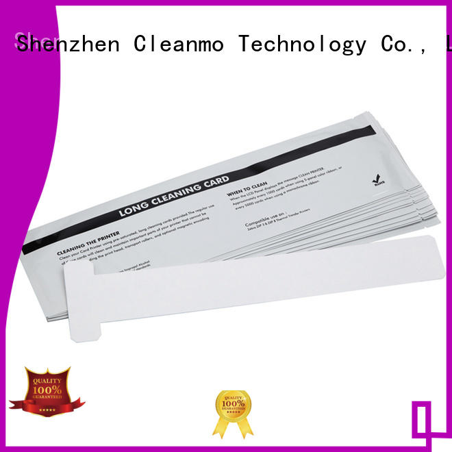 Cleanmo safe zebra cleaners supplier for ID card printers