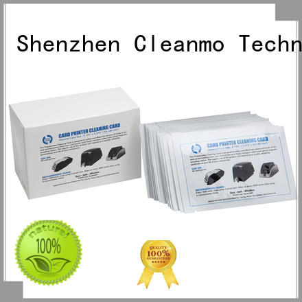 Cleanmo safe zebra cleaners manufacturer for ID card printers