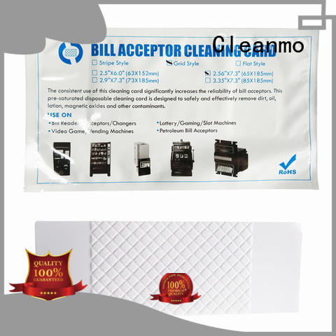 Cleanmo cost effective alcohol cleaning cards manufacturer for video game machines