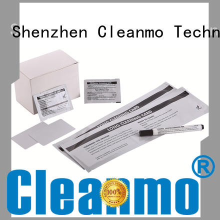 Cleanmo Hot-press compound evolis cleaning kits manufacturer for Evolis printer