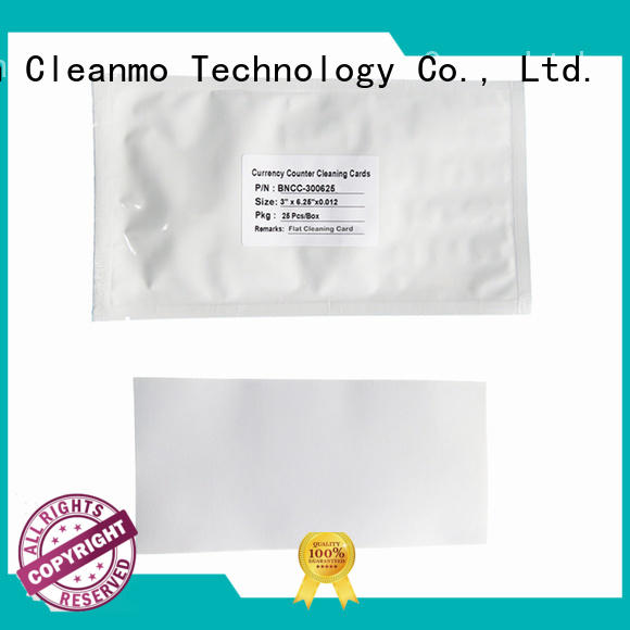 Cleanmo Scrubbing credit card machine cleaning cards manufacturer for Counting Equipment